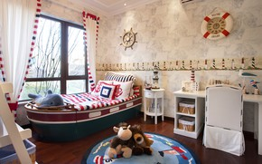 Picture design, furniture, bed, interior, children's room, Childrens bedroom