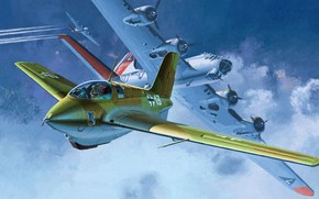 Picture Messerschmitt, Luftwaffe, Comet, German rocket interceptor, Me.163B