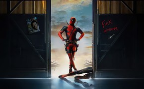 Picture pose, hero, costume, male, Ryan Reynolds, Deadpool, Marvel, Deadpool