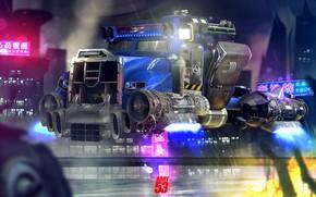 Picture Future, Truck, Art, Art, Fiction, Concept Art, Transport, Vehicles, Cyberpunk, Transport, Transport & Vehicles, by …