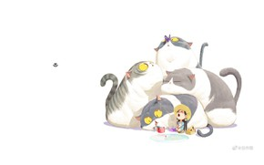Picture butterfly, fishing, fish, hat, white background, yawns, rod, yellow eyes, little girl, tails, bucket, four …