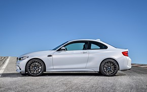 Picture the sky, asphalt, coupe, BMW, profile, 2018, F87, M2, M2 Competition