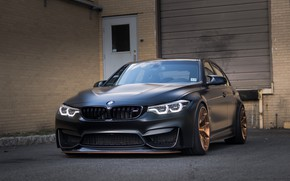 Picture BMW, Black, F80, Sight, LED