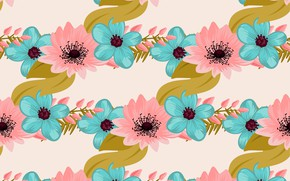 Picture white, flowers, background, pink, blue