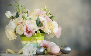 Picture flowers, holiday, spring, Easter, composition