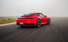 Picture 911, Porsche, rear view, racing track, Carrera S, 2019