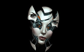 Picture face, robot, mask, cyborg