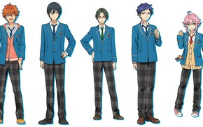 Picture guys, school uniform, characters, Ensemble Stars, Ensemble stars