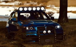Picture HDR, BMW, Wood, Snow, Game, SUV, X5M, Offroad, UHD, Xbox One X, Forza Horizon 4, …