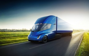 Picture truck, Tesla, electric, Semi