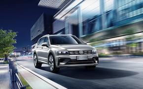 Picture Volkswagen, 2018, crossover, Tiguan, R-Line, Tiguan L