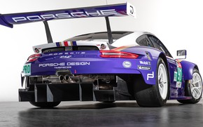 Wallpaper 2018, racing car, 911, rear view, Porsche, RSR