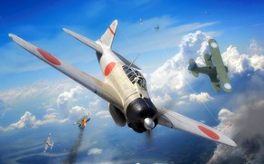 Picture -15, Radial engine, A6M Reisen, A6M2 Zero, Of the air force of the Kuomintang
