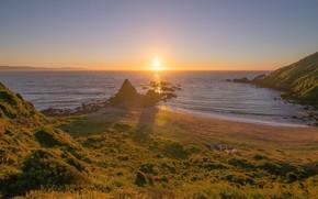 Picture landscape, sunset, nature, coast