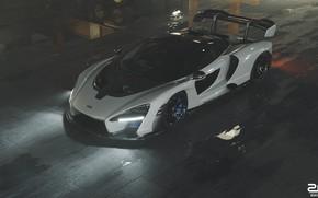 Picture McLaren, Auto, White, Machine, Male, Supercar, Sports car, Senna, Transport & Vehicles, Zoki Nanco, by …
