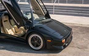 Picture Black, Supercar, Scissor doors, 1998 Lamborghini Diablo SV