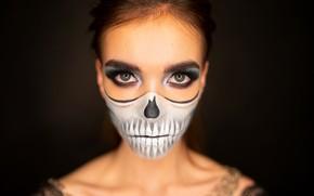Picture girl, makeup, Halloween, makeup, Alex Four, Alice Clavijo-Parrado