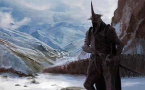 Picture The sorcerer king of Angmar, Nazgul, J.R.R. Tolkien, Angarskii mountains, Master Of Horror, Black Leader