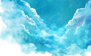 Picture the sky, clouds, art
