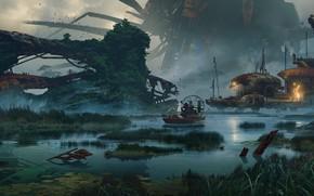 Picture Boat, Swamp, Game, Rage 2, Фантастический мир