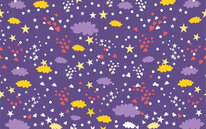 Picture the sky, stars, background, Wallpaper, texture, hearts, stars, Background, Heart, Pattern