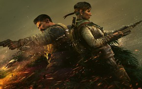Picture gun, weapons, fire, the fire, soldiers, fighters, special forces, ubisoft, harpoon, Amaru, Tom Clancy's Rainbow …