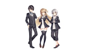 Picture girl, white background, boys