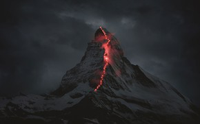 Picture Mountain, Lights, Climbing
