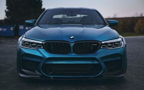 Picture BMW, Blue, Front, Face, Sight, LED, F90