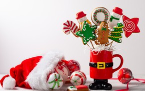 Picture toys, Christmas, New year, composition, gingerbread, Svetlana Kolpakova