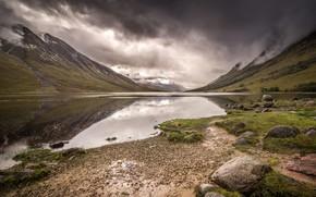 Picture mountains, lake, Scotland, Scotland