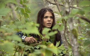 Picture forest, look, hair, the series, 100, Marie Avgeropoulos, The 100, hundred, Marie Avgeropoulos, Octavia Blake