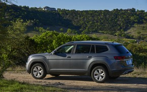 Picture hills, vegetation, Volkswagen, shrub, Atlas, 2017, dark gray