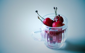 Picture berries, background, mug, cherry