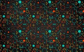 Picture texture, blackboard, geometric shapes