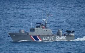 Picture boat, Grif, the coast guard, Mauritius
