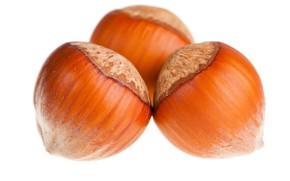 Picture macro, nuts, hazelnuts