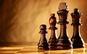 Picture Board, blurred background, chess pieces, pieces on a chessboard