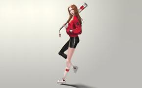 Picture Girl, Art, Style, Background, Illustration, Minimalism, Baseball, Character, Bit, kyu min Hwang, beautiful Baseball girl