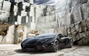Picture auto, black, Lamborghini, black, Lamborghini, Lamborghini Aventador