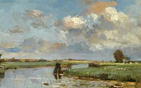 Picture landscape, picture, Louis Stutterheim, Louis Stutterheim, Muiderberg