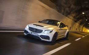 Picture lights, Mercedes-Benz, speed, AMG, Coupe, C63, Widebody, Prior-Design, C-Class, 2017, C205, PD65CC