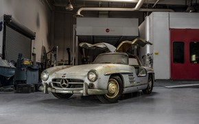 Picture Retro, Car, Old, Rust, 1954 Mercedes-Benz 300SL