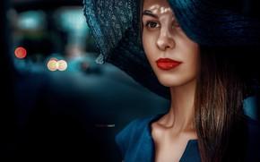 Picture look, pose, Girl, hat, lips, Alexander Drobkov-Light, Tatiana Svetlova