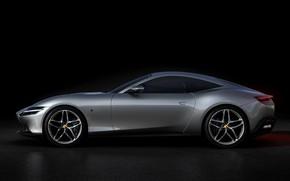 Picture background, Ferrari, side, dark, Roma, 2020