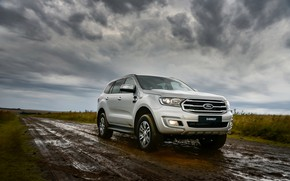Picture Ford, dirt, dampness, Everest, 4WD, XLT, 2019
