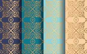 Picture pattern, geometry, ornament, Blue, Abstract, Design, Line, pattern, Vintage, Background, Gold, Texture, seamless, Pattern, Ornament