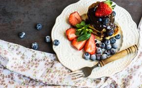 Picture berries, Breakfast, cheesecakes