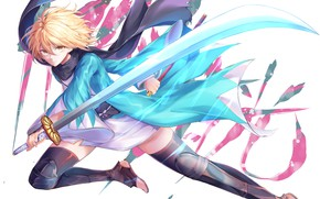 Picture girl, weapons, battle, Fate