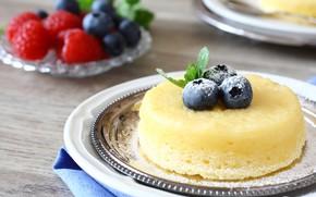 Picture berries, dessert, souffle, lemon